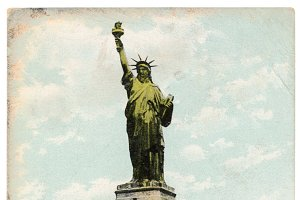 New York, Statue of Liberty, 1900