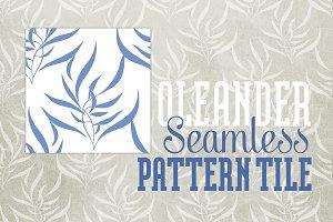 Seamless Pattern: Oleander Elegant