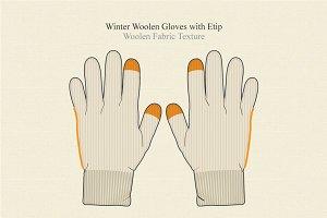 Winter Woolen Gloves with Etip