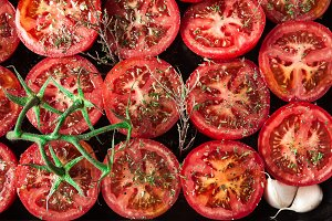 Bake the tomatoes in the oven
