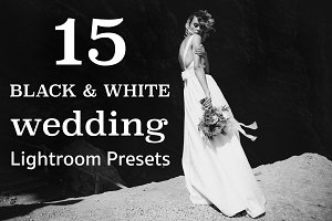 TOP 15 BW WEDDING Lightroom Presets