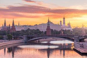 Moscow Kremlin in morning