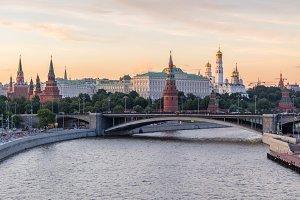 Moscow Kremlin in evening