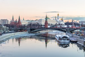 Moscow Kremlin and River