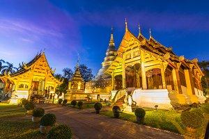 Wat Phra Singh temple at night