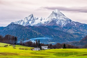 Watzmann mountain. Germany.