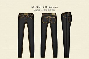 Men Slim Fit Denim Jeans