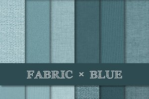 Fabric Texture Backgrounds - Blue