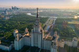 Moscow state university. Aerial view