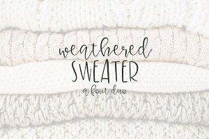 Weatherd Sweater - A Font Duo