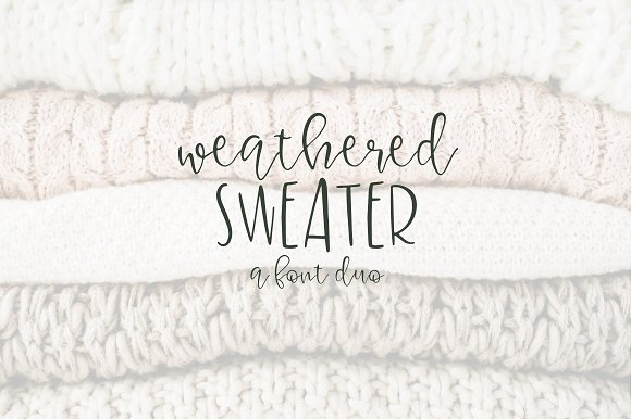 Weatherd Sweater A Font Duo