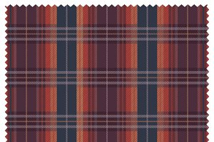 Scottish Heritage Tartan Fabric Text