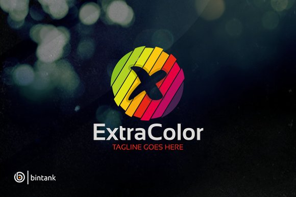Extra Color Letter X Logo