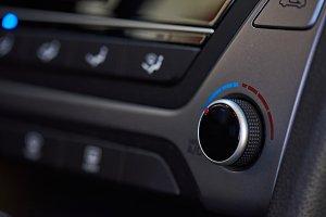 Modern car climate dashboard