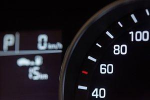Close-up of modern car dashboard