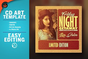Vintage CD Artwork Template