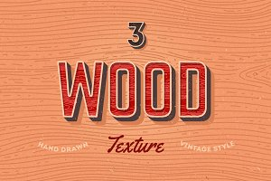 3 Wood individual textures