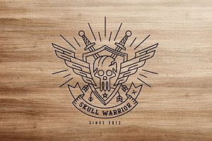 Skull Warrior Logo