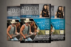 Acoustic Event Flyer/ Poster