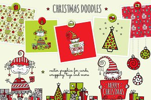 Christmas Doodle Vector Graphics