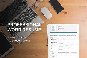 Professional Word&Google Docs Resume