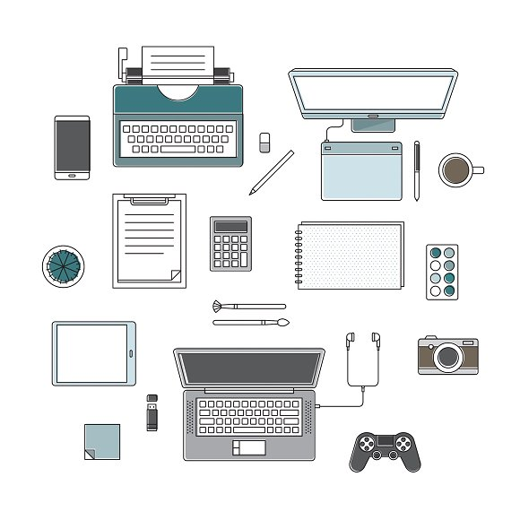 Vector Of Office Supplies
