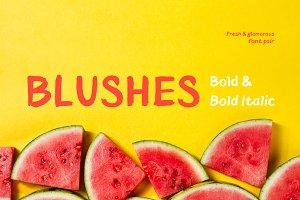 Blushes—Bold & Bold Italic