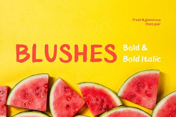 Blushes-Bold Bold Italic