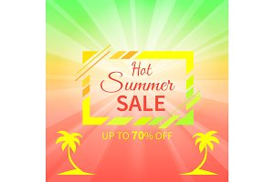 Hot Summer Sale Up to 70 % Off Promotional Placard