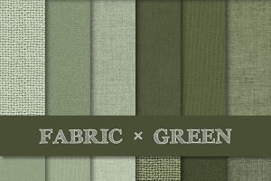 Fabric Texture Backgrounds - Green