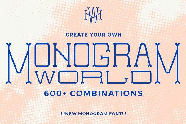 Monogram World Vintage Stunning Display Fonts Creative Market