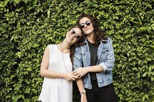 Happy lesbian couple
