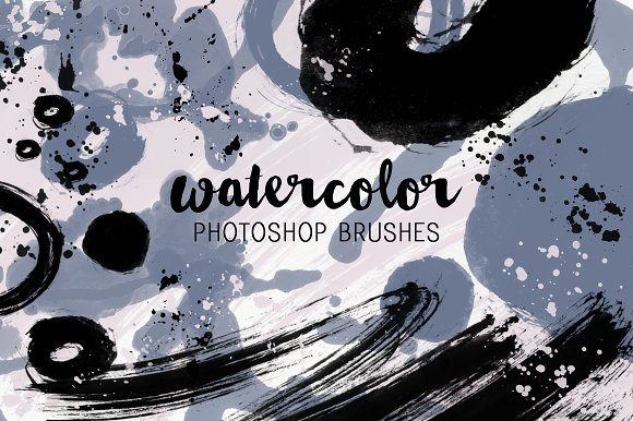 Doodle Watercolor Photoshop Brushes