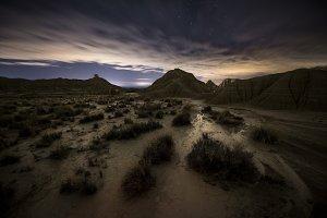 Desert at night