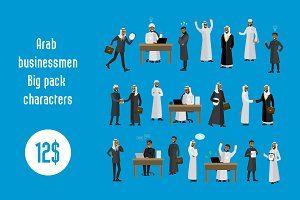 Arab businessmen characters