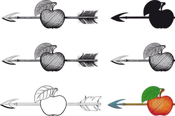 arrow hit the exact center of the a…