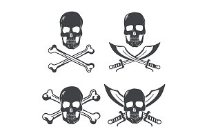 Pirate flag Design Elements