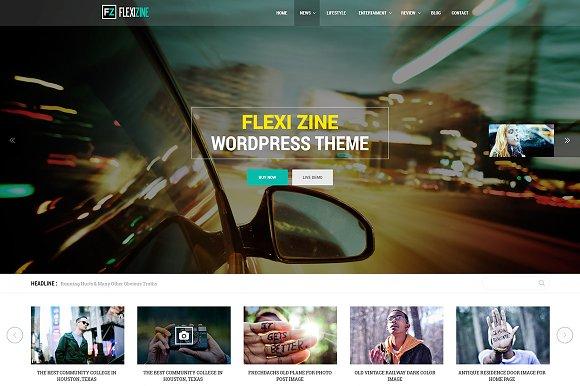 Flexi PSD For Blog Personal News