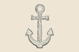 Vintage Marine Anchor engrave