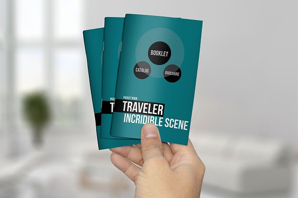 Pocket Booklet Catalog Mockups