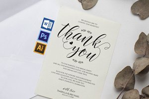Thanks Wedding sign Wpc315