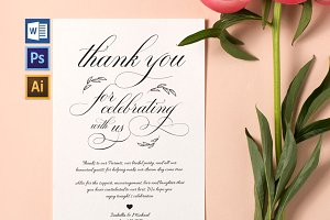 Thanks Wedding sign Wpc316