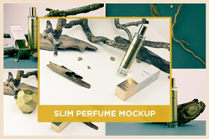 Slim Perfume Mockup