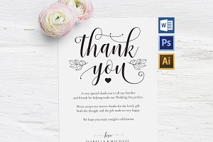 Thanks Wedding sign Wpc317