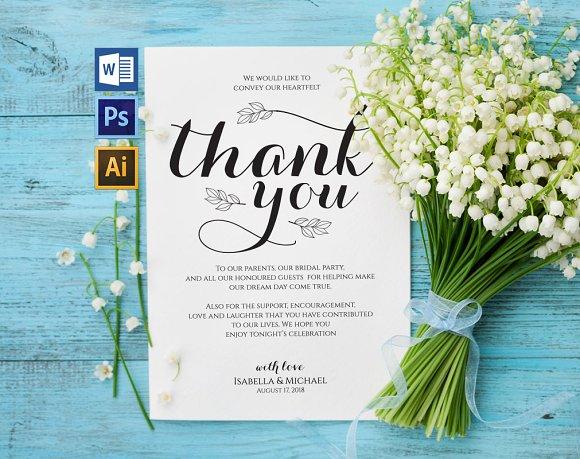 Thanks Wedding Sign Wpc318
