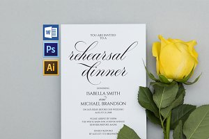 Rehearsal Dinner Invitation SHR322