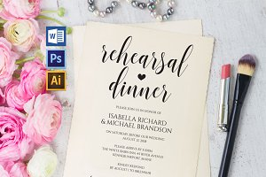 Rehearsal Dinner Invitation Wpc323