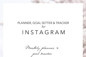 Monthly Instagram Planner & Tracker
