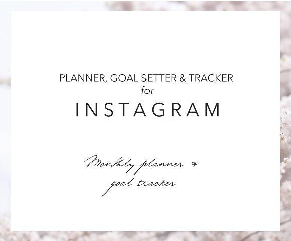 Monthly Instagram Planner Tracker
