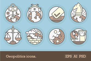 Geopolitics icons.